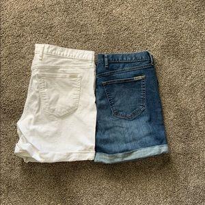 Eddie Bauer boyfriend fit denim shorts- 2 pair EUC